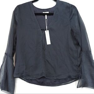 Nwt gentle fawn grey blouse